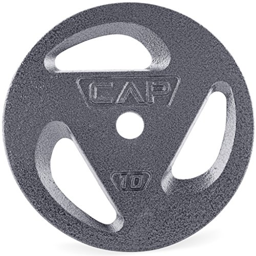 CAP Barbell Standard 1-Inch Grip Plates, Single, 10 Pound