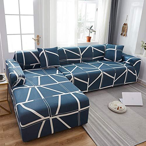 Funda de sofá Fundas de sofá de Alta Elasticidad Protector de 1 2 3 4 plazas Fundas de sofá para sillas de sofá en Forma de L Protector de Muebles LoveSeat-9_2 plazas 145-185cm