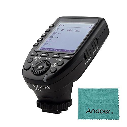Godox Xpros TTL Wireless Blitzauslöser Sender für Sony A7 II A77 A99 ILCE-6000L A9 A7R A7RII A350 DSC-RX10 Unterstützung TTL Autoflash 1/8000 s HSS Große LCD 5 Gruppentasten 11 Anpassbare Funktionen
