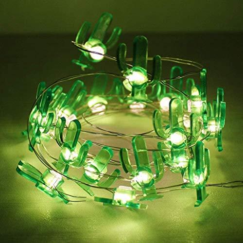 JMSTT 2,2 m 20 Kakteen LED-Lichterketten, batteriebetriebene Kupfer Fee Lichterketten, Innendekoration für Home Party Kinder Schlafzimmer