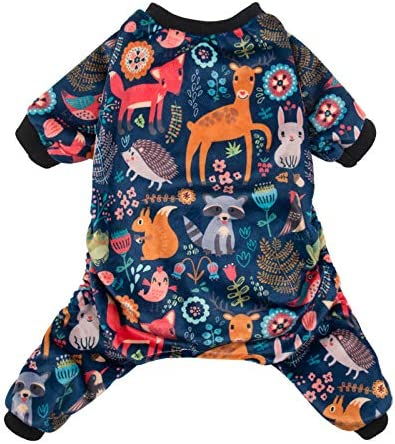 CuteBone Dog Pajamas Forest Family Dog Apparel Dog Jumpsuit Pet Clothes Pajamas Coat Xmas P75L product image