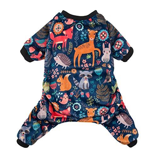 CuteBone P75L Hunde-Pyjama, Waldfamilie, Hundebekleidung