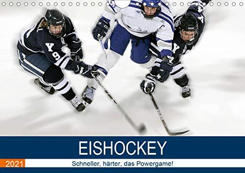 Eishockey! Schneller, härter, das Powergame! (Wandkalender 2021 DIN A4 quer)