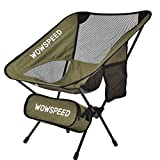 TYCOLIT Camping Chair, Portable Camping Chair,Ultralight Outdoor Folding Chairs Outdoor with Legs Stabilizers for Outdoors, Camping, Beach,Backpacking,Hiking, Picnic,with Carry Bag (Army Green)