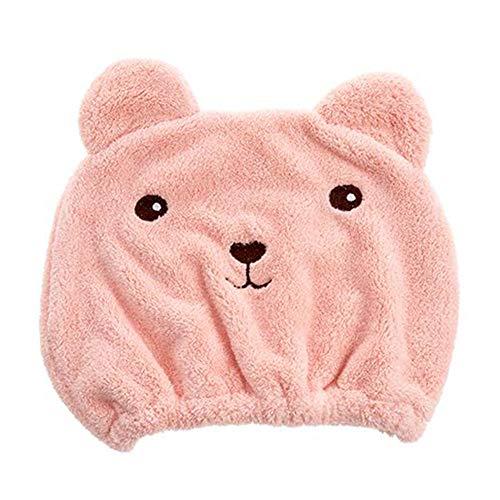 Baotou snelle draagbare huishoudelijke niet-haar handdoek, schoonheidssalon kinder haarkapje, katoenen meisje,Pink