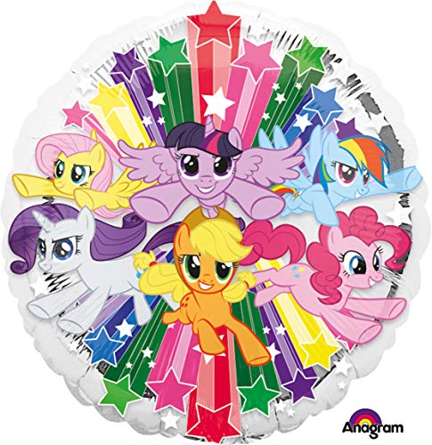 Amscan 3490201 - Standard Folienballon My little Pony, Durchmesser circa 43 cm, Heliumballon