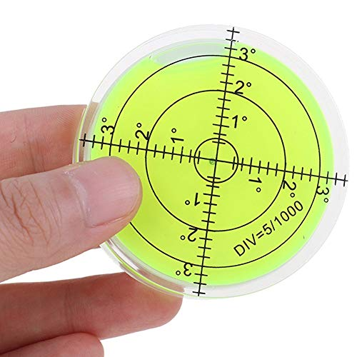 Bubble Spirit Level 60mmx12mm Circular Degree Marked Surface Level Inclinometers for Leveling Camera Tripod Turntable RV Camper Furniture Measuring Instruments Tools
