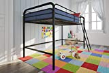 DHP Junior Loft Bed Frame With Ladder, Black
