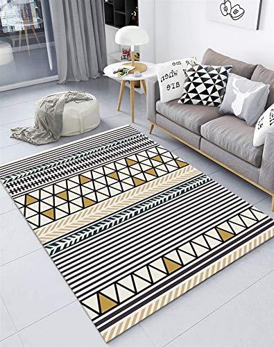Insun Tapis de Salon Chambre Style Scandinave Moderne Design Tapis Déco Rectangle Antidérapant Lavable Style 24 130x190cm