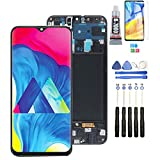 Replacement for OLED Samsung Galaxy A50 SM-A505FN/DS A505F/DS A505 LCD Display Touch Screen Digitizer Assembly for Samsung A50 LCD with B-7000 Glue(Frame with Fingerprint Sensor)