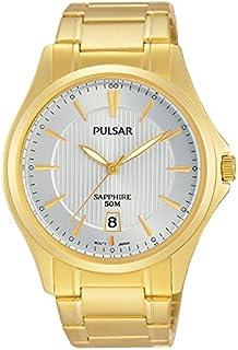 Pulsar Montre de Bracelet à Quartz analogique en Acier Inoxydable Enduit ps9384x 1