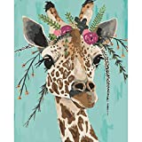 Paint by Numbers for Adults Animals Giraffe Kits on Canvas Easy to Paint for Beginner and Kids ,DIY Acrylic Painting by Numbers 16x20 inch Without Framed Arts Craft Home Wall Decor LSPBN