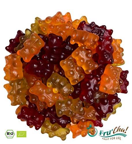 Fru'Cha! – BIO Fruchtgummibärchen ohne Gelatine, vegan, glutenfrei, laktosefrei - 500g