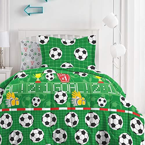 Kids 7-Piece Soccer Bed Set