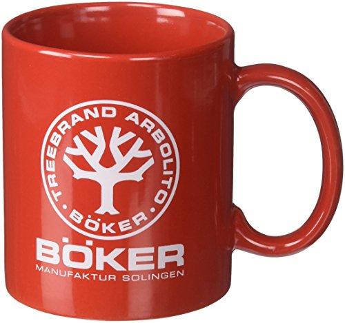 Boker TREE BRAND Red Ceramic 10.4 Ounce Coffee Mug