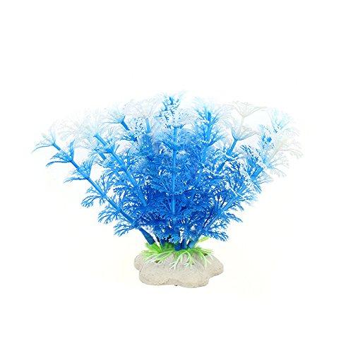 Fenleo 6 Pcs Artificial Plastic Plant Water Grass, Aquarium Decor Fish Tank Decoration Ornament