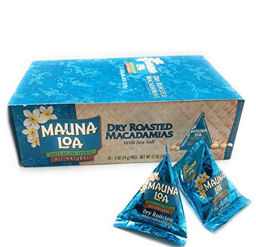 Mauna Loa Dry Roasted & Salted Macadamia Nuts, 0.5-Ounce Triangle Pack (Pack Of 24)