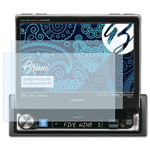 Bruni Schutzfolie kompatibel mit Alpine IVA-D511R Folie, glasklare Displayschutzfolie (2X)