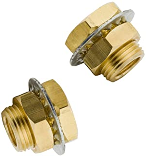SNS SPM-1//4 Tube OD 1//4 NPT Bulkhead Union Nickel Plated Brass Push to Connect Fittings 10 PCS Per Pack