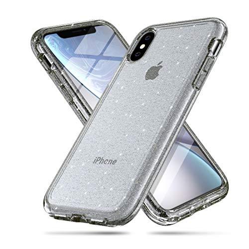 KIOKIOIPO-N Mode stoßfest Terminator Stil Glitter Pulver schutzhülle for iPhone x/xs (Color : Grau)