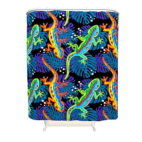 Dofeely Douchegordijnen Lizard Animal Printed Antibacterieel Waterdicht Design Gordijn Bad Gordijn Woonaccessoires