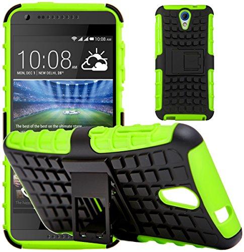 G-Shield Hülle für HTC Desire 620/620g Stoßfest Schutzhülle mit Ständer - Grün