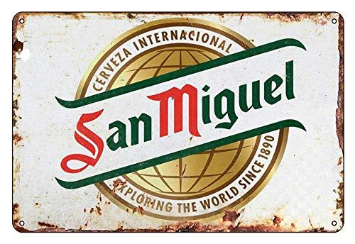 Boggevi Kells San Miguel Schilder Metallschild Vintage Pub Tiki Bar Home Cafe Wand Bier Retro Club – Blechschild Metall Poster Geschenk 200 mm x 300 mm TPH0077