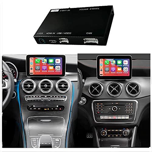 Wireless Carplay Android Auto fürMercedes Benz C GLC W205 V A B E CLS Klasse W212 X156 C117 w246 2015-2018, mit Mirror Link Autolink Airplay Funktion NTG5.0/5.1 5.2 Auto