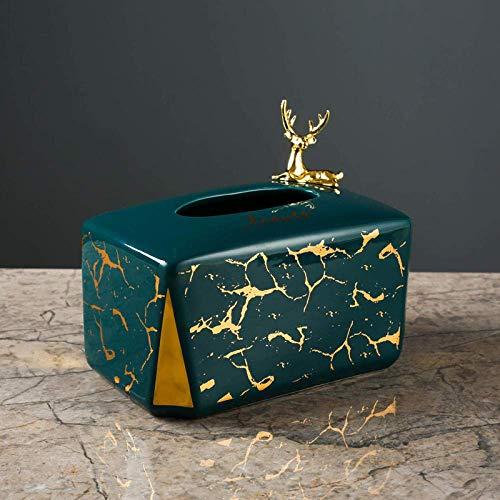 Huishoudelijke keramische tissue doos decoratie Nordic licht marmer goud eettafel weefsel buis moderne woonkamer tissue box-1pcsA LOLDF1 (Color : 1pcsb)
