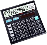 CITHZEN CT-512GC Basic Calculator for Students, Office, Shops (Black, Large Display,Transparent Button)