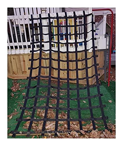 WJC Spielplatz Klettern Cargo Netz für Kinder und Kleinkinder Outdoor-Kletterstrukturen Hinterhof Baumhaus Swing Set Spielgeräte Hindernis Kurs Klettern Seil Leiter Gurtband Netz