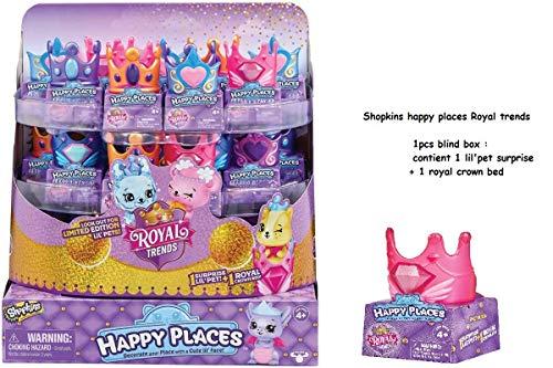 Shopkins Happy Places - Royal Trends Lil 'Pet Surprise Pack - 1 stuks Blind Box - Kleur kan variëren - HAP38000 - Nieuw