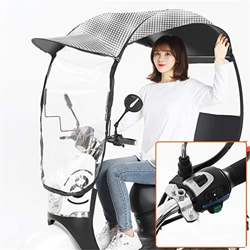 Dbtxwd Universal Umbrella Sun Shade Regenschutz Für E-Motorräder Und E-Fahrräder Regenschirm Wasserdicht,2,A