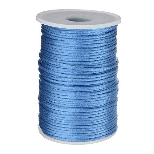 100 Yards/PC 2mm gevlochten nylon koord DIY armband knoop ketting gevlochten Blauw
