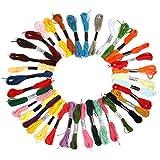 36 Fili da ricamo, Braccialetti dell'amicizia, Filo da ricamo, Filetto intrecciato per fare la maglia (DIY --Fare-da-te), Progetto di artigianato, accessori da cucito & fornitura, 6 fili, 8,75 yard
