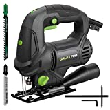 GALAX PRO 5 Amp 3000 SPM Jigsaw with Laser Guide, Variable Speed, 4-stage Orbital Pendulume Action, Quick Release Saw Blade System, 2 Blades