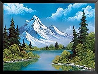 Buyartforless Work Framed Power Landscape Bob Ross 24x18 Art Print Poster-The Joy of Painting, Blue