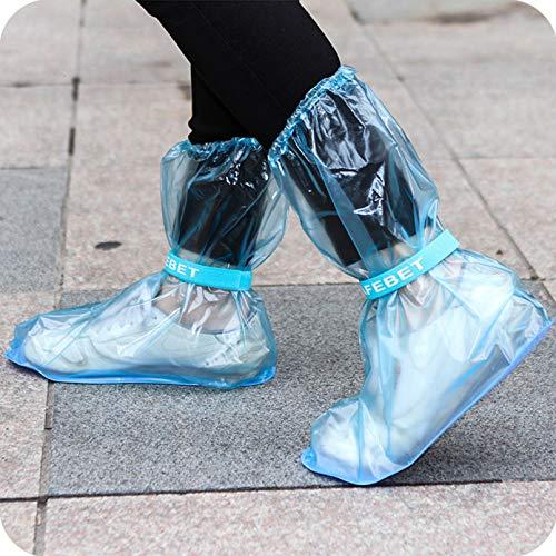 LDGGS Funda larga para zapatos de lluvia para hombres y mujeres, reutilizable, para zapatos, impermeable, color azul