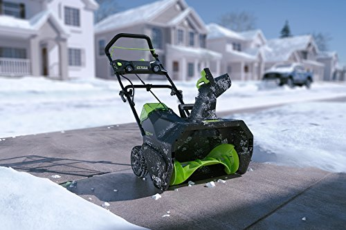 GreenWorks 2600402 Pro 80V 20-Inch Cordless Snow Thrower, 2Ah Battery & Charger Included