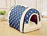 Wishdeal Casa para Perro con tapete Plegable para Mascotas, Cama para Perros pequeños y medianos