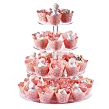 ♛[STRUCTURE]--- Overall size 15.7 Inch in high x 13inch wide. The diameter of 4 tier plates :7'', 9'', 12'',13.5'' and the height between each plates: 4.7'' to provide enough space and height to showcase your cake and dessert. Each acrylic plate can...