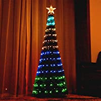 Bolylight 6Ft Artificial 304 LED Lighted Outdoor Christmas Tree