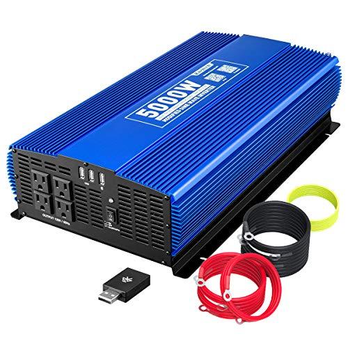 KINVERCH 5000 Watts Power Inverter 12V to 110V, Modified Sine Wave Car Inverter