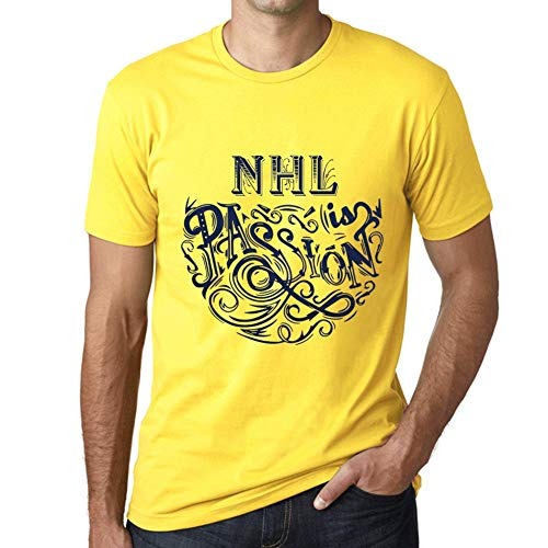 One in the City Hombre Camiseta Gráfico T-Shirt NHL Is Passion Amarillo