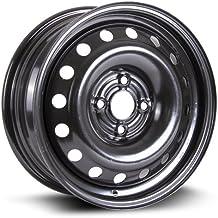 RTX, Steel Rim, New Aftermarket Wheel 15X6, 4X100, 57.1, 45, Black Finish X99123N