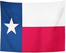 Emvency Tapestry Star of Texas Flag Dallas Cattle Home Decor Wall Hanging for Living Room Bedroom Dorm 60x80 Inches