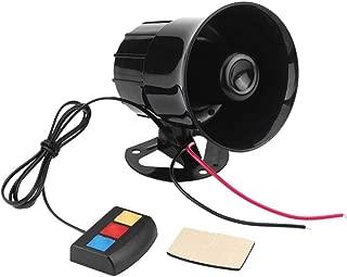 Luckycyc Car Alarm Warning Siren,Motorcycle Burglar Alarm Alarm Sound Amplifier Modification Accessories Vehicle Horn Alarm Loud Speaker