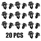 Xuping shop para Honda Civic Accord 20pcs / Set Negro Plástico Auto Retenedor Clip Remache Remache Clips Trim 9mm y 10mm Mayitr