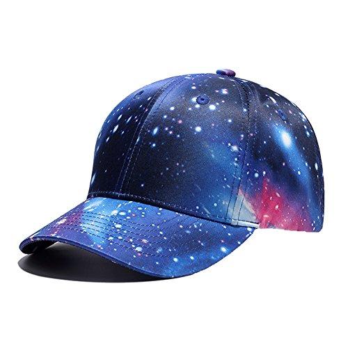 Galaxy 3D Printed Adjustable Baseball Cap,Unisex Hip Hop Snapback Star Sky...