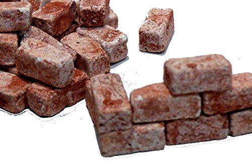 Unbekannt 40 Bausteine Ziegelrot (Galiläa) f. den Krippenbau